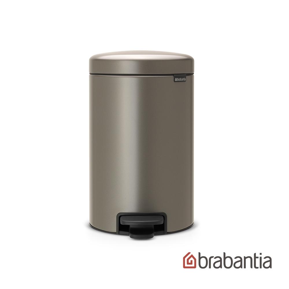 【Brabantia】 NEWICON環保垃圾桶-12L煤灰褐