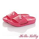 HelloKitty親子鞋 不對稱室內外拖鞋童鞋-桃