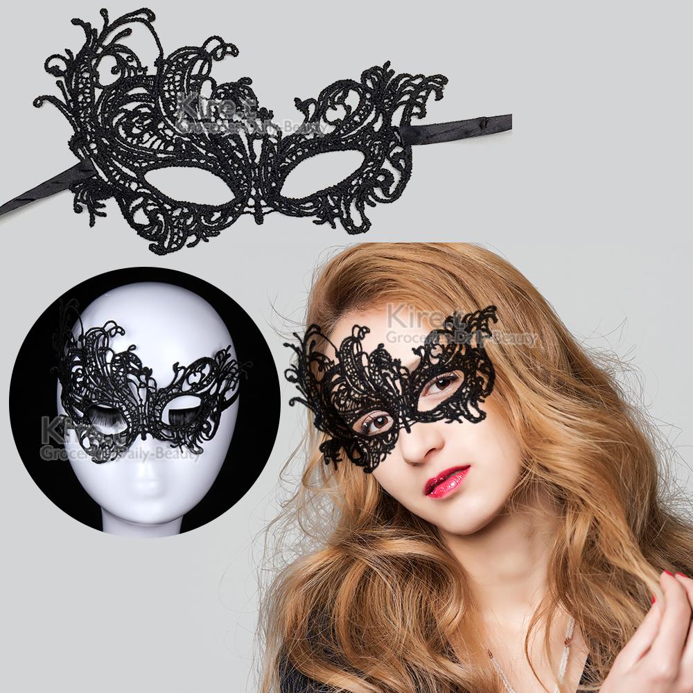 派對/化妝舞會面具 蕾絲眼罩面罩 鏤空後綁帶式-性感尤物款 kiret