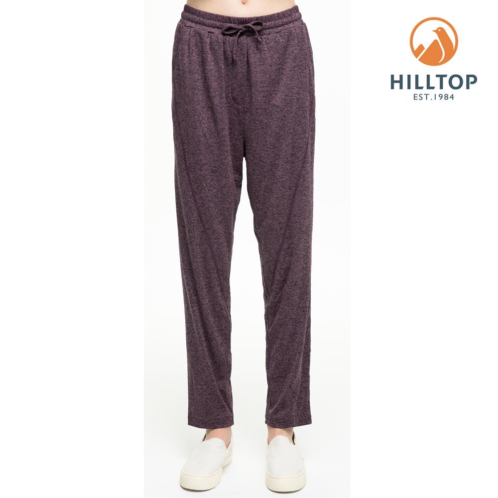 【hilltop山頂鳥】女款吸濕快乾抗UV長褲S07FI1紫黑