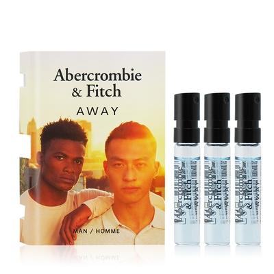 Abercrombie&Fitch A&F AWAY境男性淡香水2mlX3 EDT-隨身針管試香