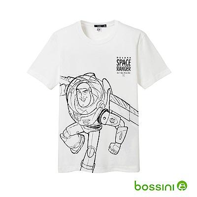 bossini男裝-玩具總動員印花T恤-巴斯光年02灰白