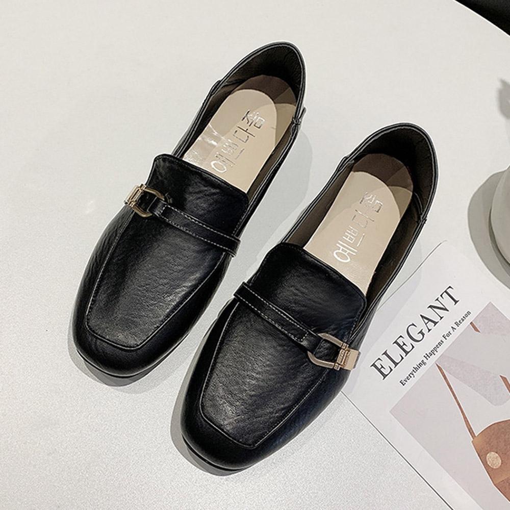 韓國KW美鞋館-(現貨)韓時尚典雅簡約樂福鞋(共1色) (黑色)