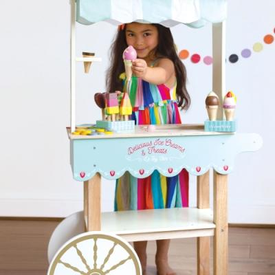 英國 Le Toy Van 角色扮演系列-夢幻冰淇淋餐車大型玩具組