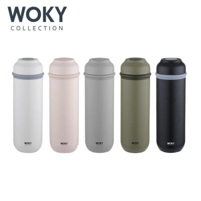 【WOKY 沃廚】JIN真瓷系列-輕量隨行陶瓷保溫瓶400ML-升級版(5色可選)
