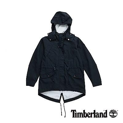 Timberland 女款暗藍色防潑水連帽外套|B2105