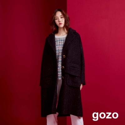 gozo 質感扣款羊毛大衣(黑色)