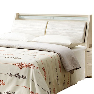 綠活居 雷波斯時尚5尺皮革木紋雙人床頭箱-152x30x102cm-免組