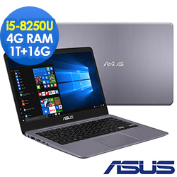 ASUS VivoBook S410UA 14吋窄邊筆電(i5-8250U/4G/1T+16G)