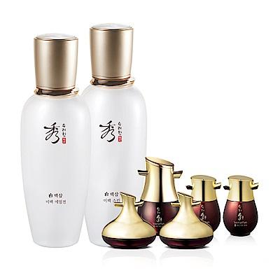 秀雅韓 白蔘玉帛活顏水乳組