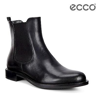 ECCO SHAPE 25 經典帥氣切爾西短靴 女-黑