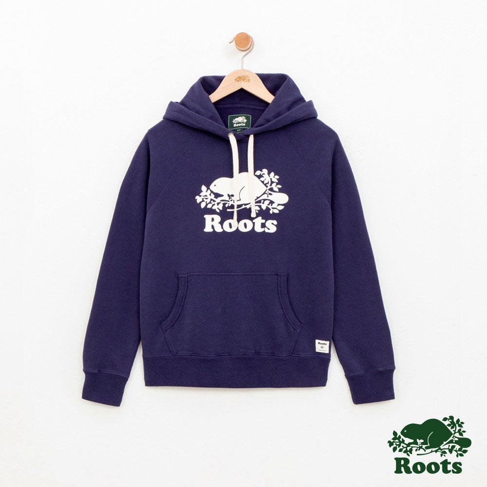 Roots -女裝- 經典帽T- 藍