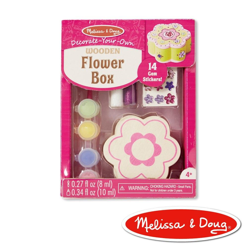 美國瑪莉莎 Melissa & Doug 美勞創意木製花形珠寶盒