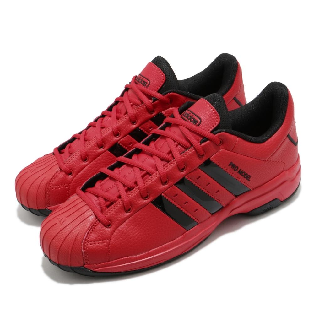 adidas 籃球鞋 Pro Model 2G 低筒 男鞋 愛迪達 貝殼頭 平價款 街頭場地 耐磨 紅 黑 FZ1392