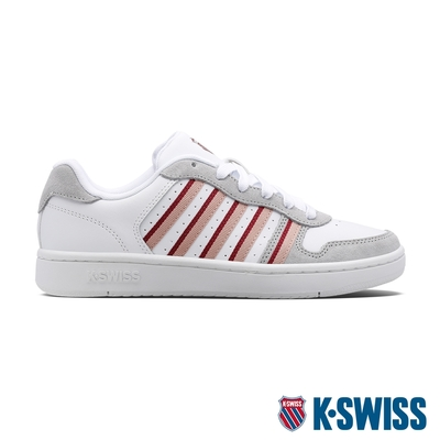 K-SWISS Court Palisades時尚運動鞋-女-白/藕粉/酒紅