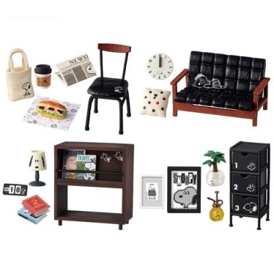 日本RE-MENT全8種SNOOPY史努比的時尚房間 傢俱場景組4521121250670