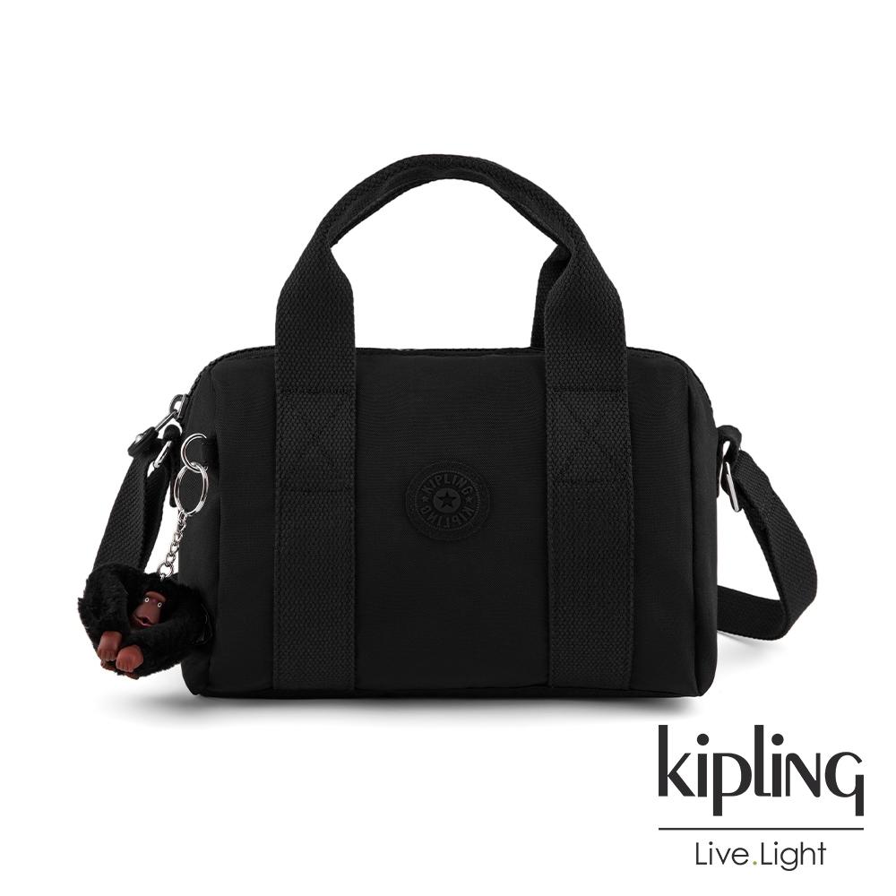 Kipling 質感黑側背包-IONA
