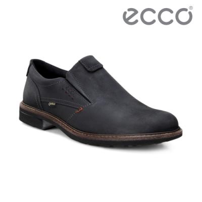 ECCO TURN 時尚磨砂牛皮套入式防水休閒鞋 男鞋 黑色