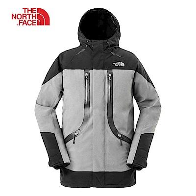 The North Face北面男款黑灰撞色防水透氣羽絨夾克|3L8RGAN