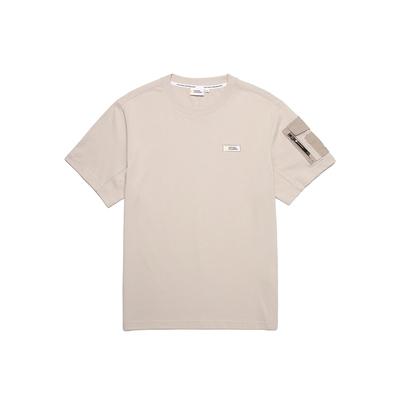 NATIONAL GEOGRAPHIC 男 ROWDY SMALL LOGO SLEEVEPOCKET H/TEE 短袖T恤 淺褐-N212MTS050071