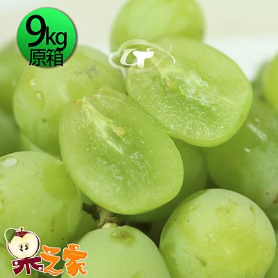果之家 特選A級空運鮮嫩綠無籽葡萄1箱(9kg/箱)