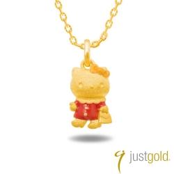 鎮金店Just Gold黃金吊墜 - Hello Kitty嬉遊四季(秋日精靈)