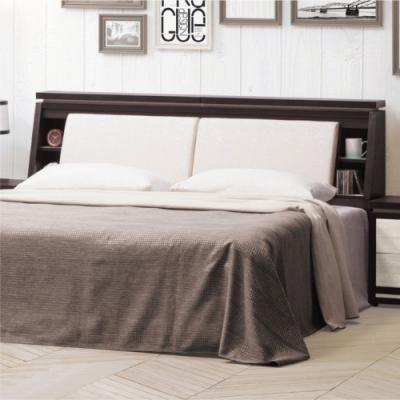 綠活居 黎巴嫩   現代5尺貓抓皮革雙人床頭箱(不含床底+不含床墊)-152x30x102cm免組