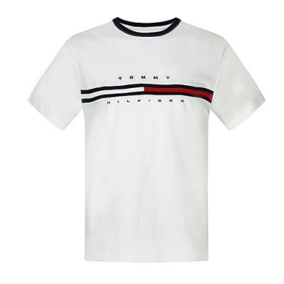 Tommy Hilfiger FLAG LOGO棉質短袖T恤 (白色)