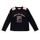 FILA KIDS 童吸濕排汗上衣-黑 5TES-8318-BK