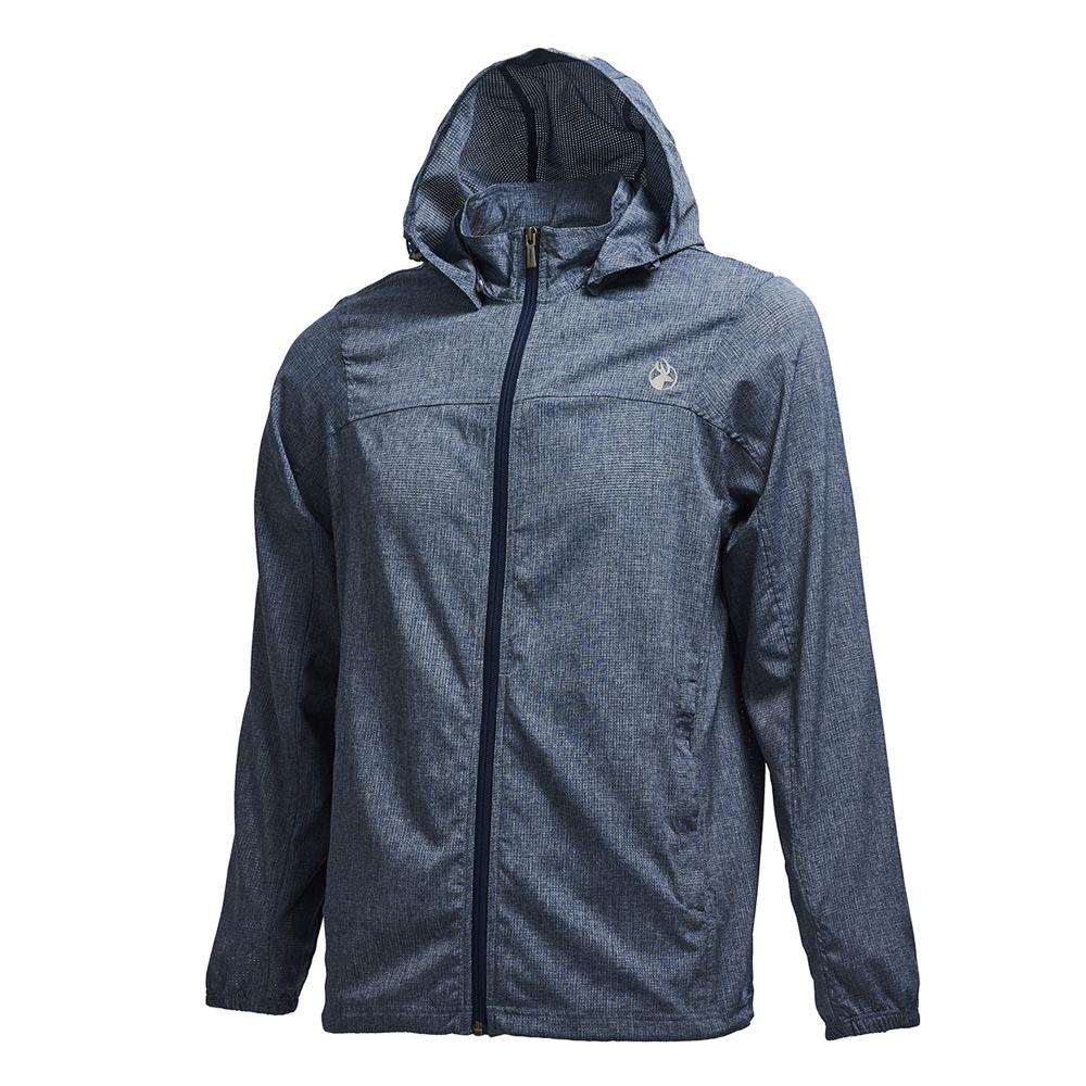 荒野【wildland】男可溶紗環保吸排透氣外套深灰色