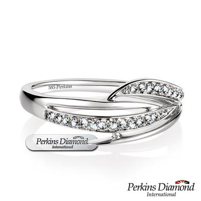 PERKINS 伯金仕 - Anne系列 0.08克拉 14K金鑽石戒指