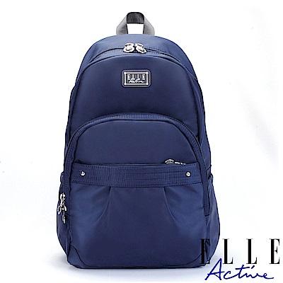 ELLE Active 優雅隨行系列-後背包-大-深藍色