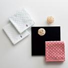 日本派迪 今治100%純綿七寶紋樣柔膚毛巾-純白