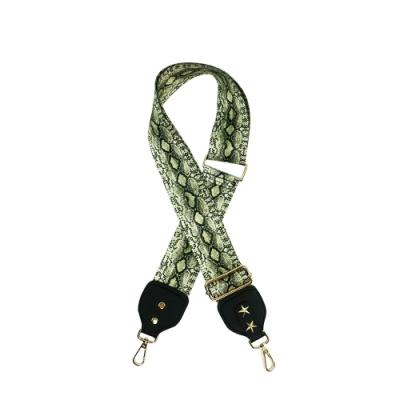【Belinda】個性蛇紋寬版肩背斜背帶
