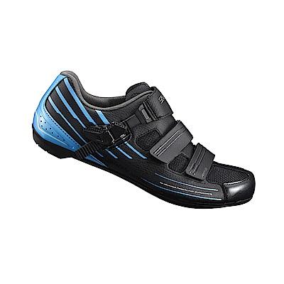 【SHIMANO】RP3 男性公路車性能型車鞋 寬楦 黑/藍色