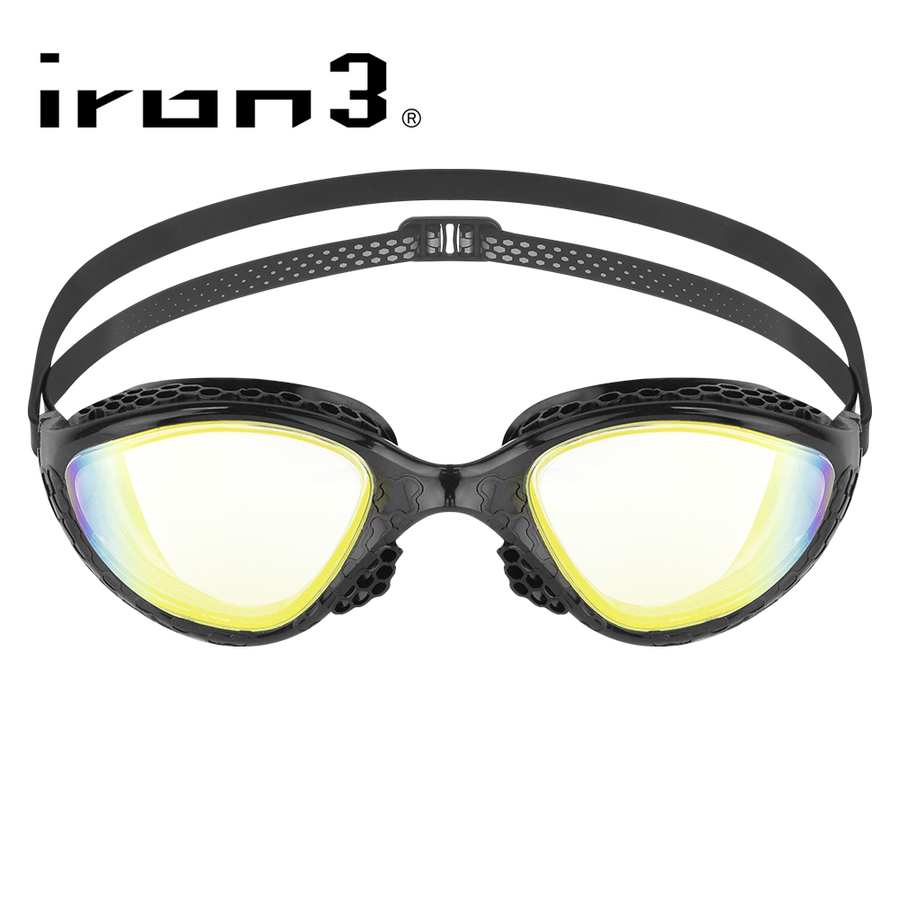iron3 蜂巢式防霧抗UV電鍍運動泳鏡 VR-945