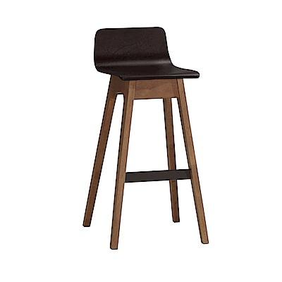 品家居 朵莎實木吧台椅(二色可選)-46x46x88.5cm免組