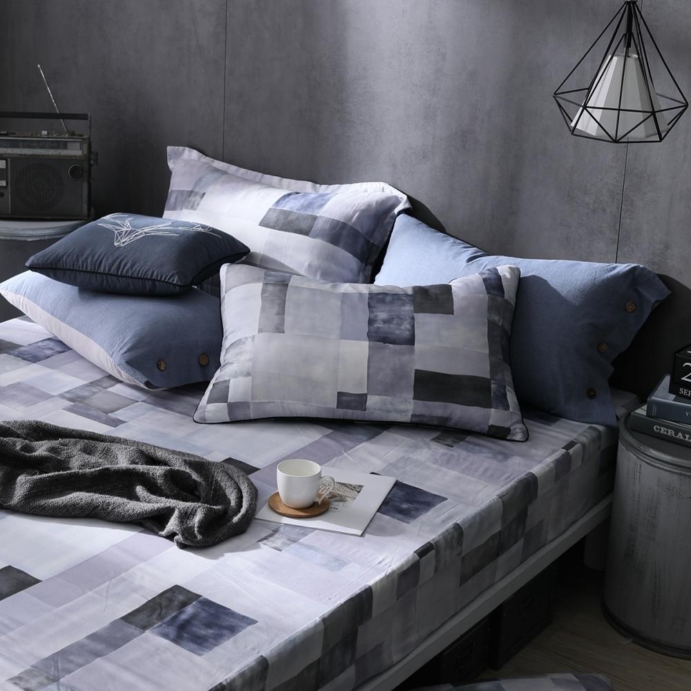 OLIVIA  Picasso 灰 標準雙人床包美式枕套三件組 200織精梳純棉 台灣製