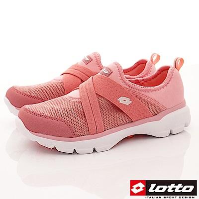 Lotto樂得-編織健走懶人鞋款 SI743玫瑰粉(女段)