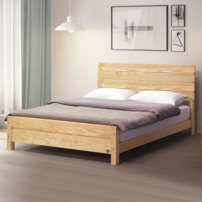 Boden-杰爾5尺雙人松木實木床架-159x202x95cm
