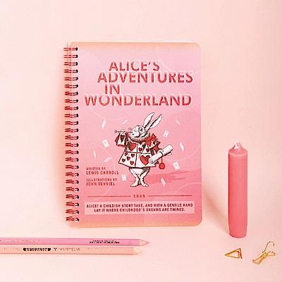 7321 Design 經典童話中分橫線環裝筆記本-愛麗絲