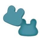 澳洲We Might Be Tiny 矽膠防滑便當盒兔寶寶-孔雀藍
