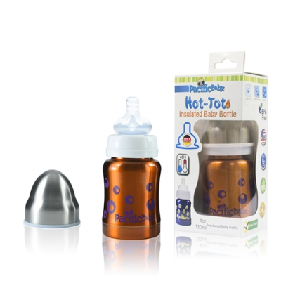 Pacific Baby 美國不鏽鋼保溫太空瓶4oz(自信橘)