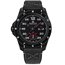elegantsis 陸軍特戰限量款 機械錶 義大利皮革帆布錶帶-黑x灰/47.5mm