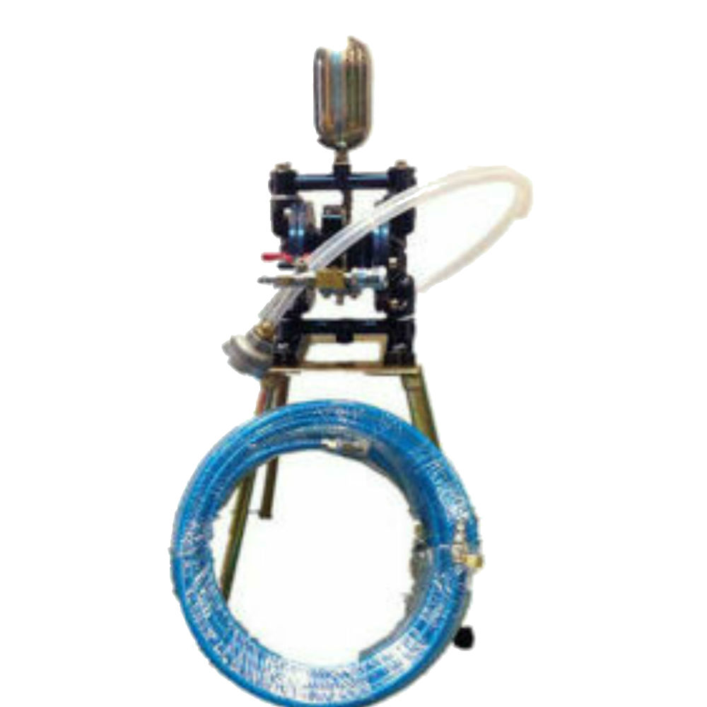 台灣製造 送藍色夾紗雙併管!! 噴漆用 氣動雙隔膜 泵浦 幫浦 四腳仔 送漆機