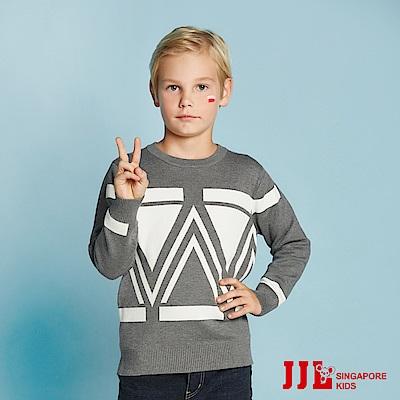 JJLKIDS 英倫氣質幾何毛衣(麻灰)