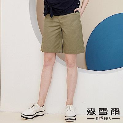 【麥雪爾】純棉舒適五分寬褲
