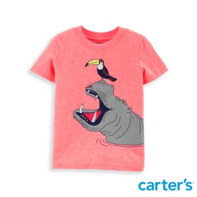 【carter's】 咬不到我粉橘色質感上衣 (6M-24M) 任選 (台灣總代理)