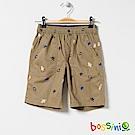 bossini男童-印花輕便短褲02黃銅色