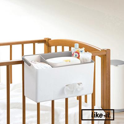 【日本like-it】嬰兒床邊用品收納箱